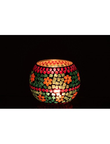 J-Line Tea-Light Holder 3 colours Round Glass
