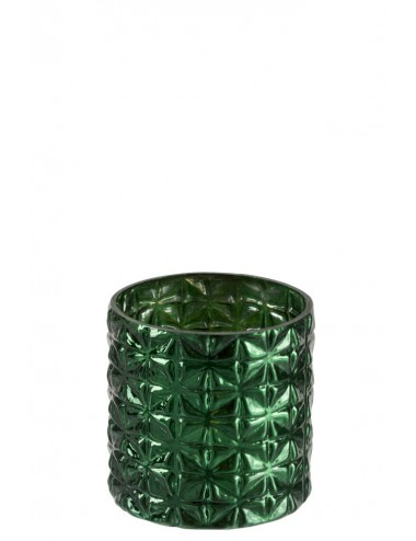 J-Line Hurricane Pattern Glass Green Small