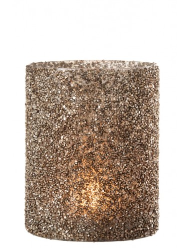 J-Line Hurricane Light Glitter Glass Dark Gold Large
