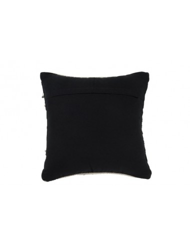 J-Line Cushion Pearls Cotton Black/White