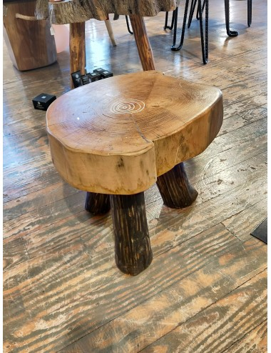Handmade Oak Wood Circular Table