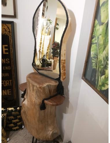 Oak wood mirror boudoir