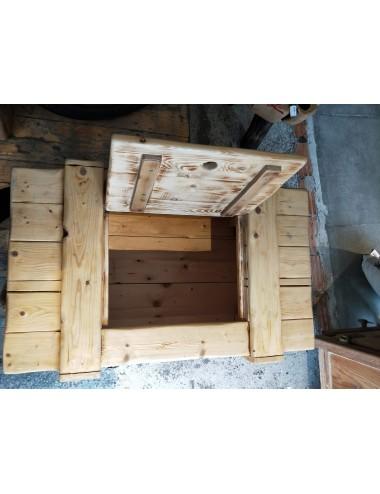 Handmade wooden trunk