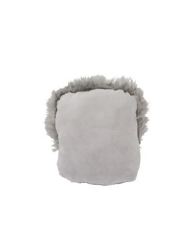 J-Line Cushion Foot Faux Fur Grey