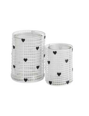J-Line Tealight Holder Hearts Small