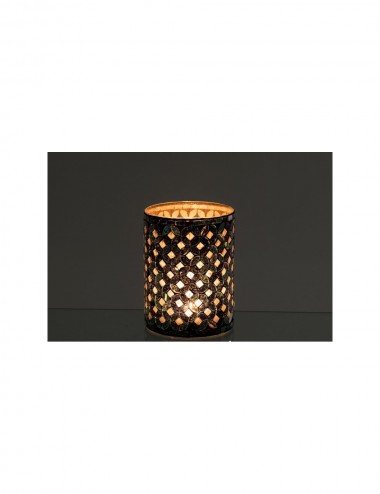 J-Line Tea-Light Holder Mosaic Cylinder Glass