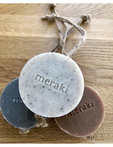 Meraki Bamboo Charcoal Soap Hanging