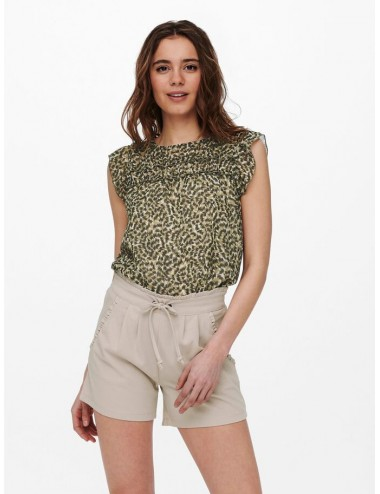 ONLY ONLMARGUERITE CAPSLEEVE TOP WVN