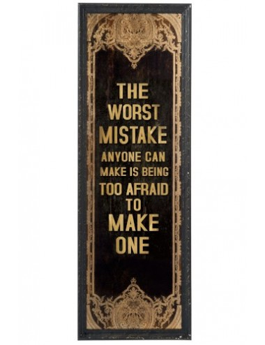 "J-Line Picture frame ""Mistake quote"""