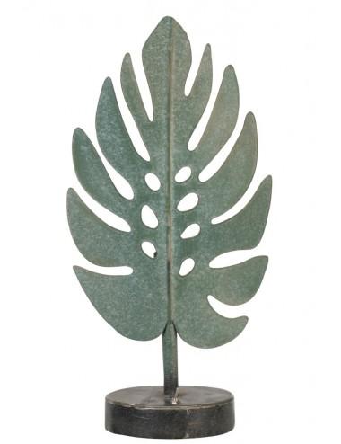 J-Line Lamp Led Leaf Metal Green Large