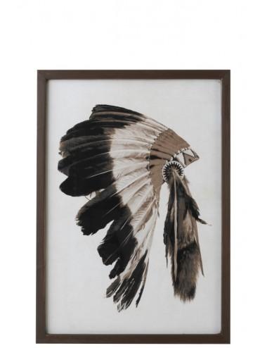 J-Line Frame Headdress Native American Wood/Glass